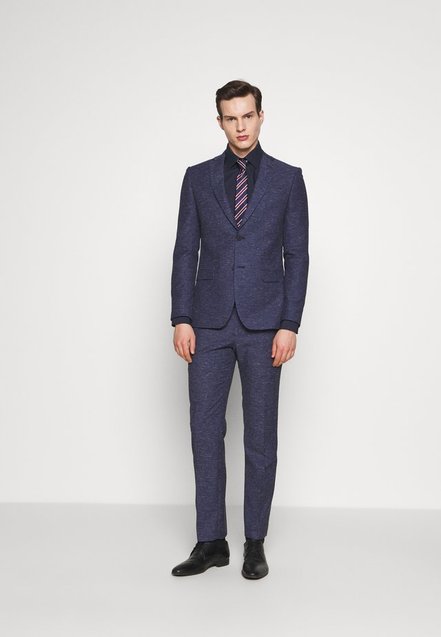 SPECKLE TEXTURE SUIT - Garnitur - navy