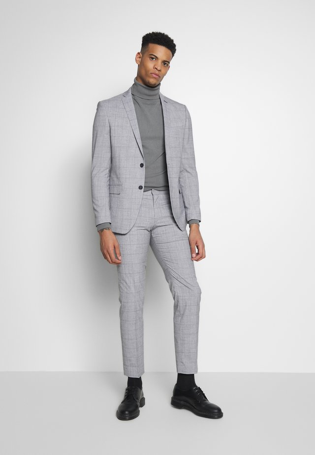 WINDOWPANE SUIT - Suit - grey