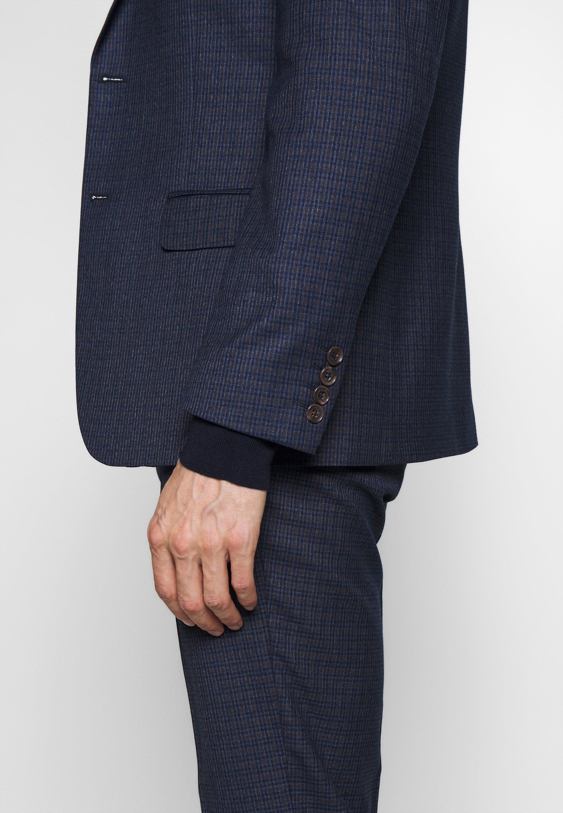 Limehaus Mini Check Suit - Costume Navy
