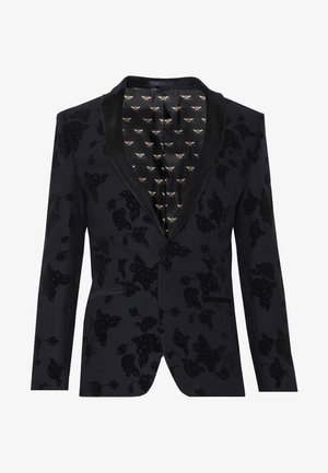 NAVY ROSE FLOCK  - Blazer jacket - navy
