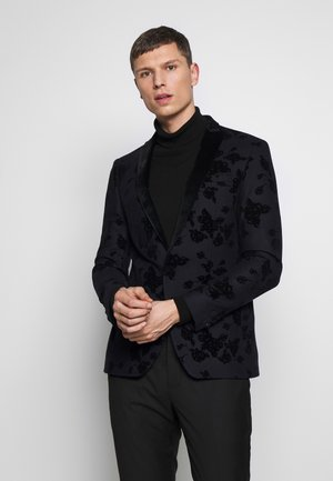 NAVY ROSE FLOCK  - Blazer jacket - navy