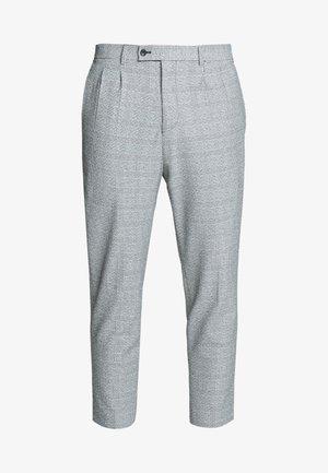 CHECK - Spodnie materiałowe - black/white