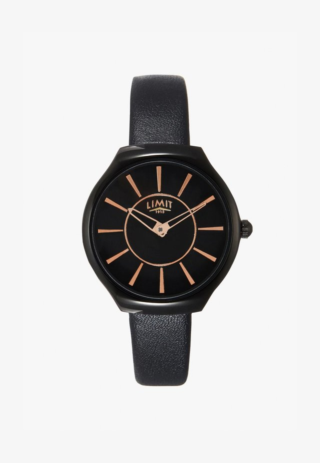 LADIES STRAP WATCH MATTE DIAL - Klokke - black