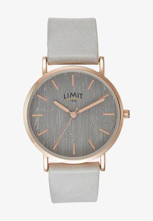 LADIES STRAP WATCH TEXTURED DIAL - Watch - grey