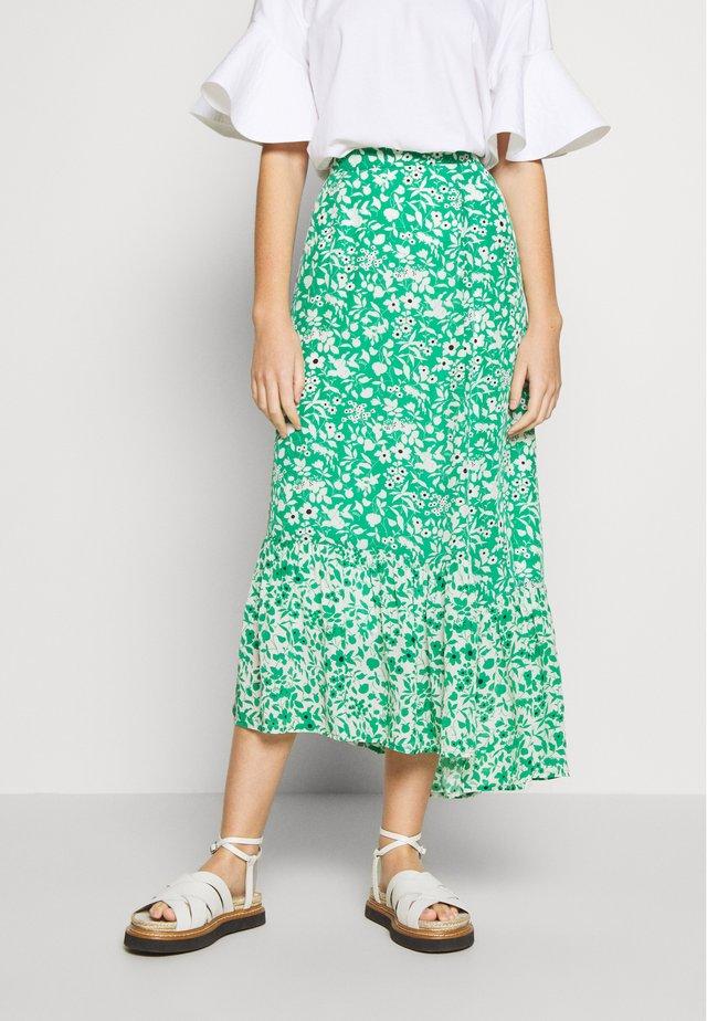CLEO SKIRT - Jupe longue - green