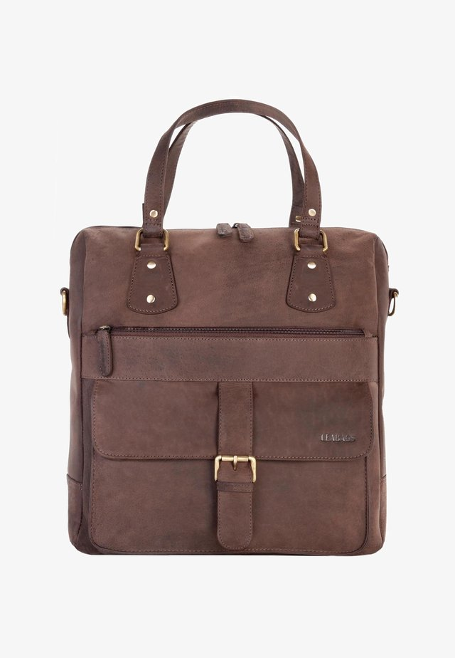 FREMONT - Handbag - mottled brown