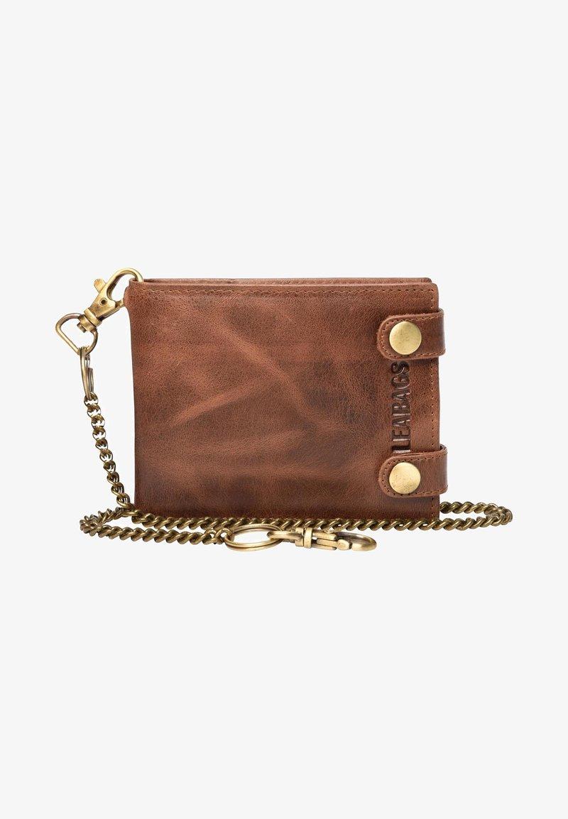 Leabags - Wallet - mottled light brown
