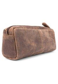 Leabags - WAYNE - Pencil case - mottled light brown - 2