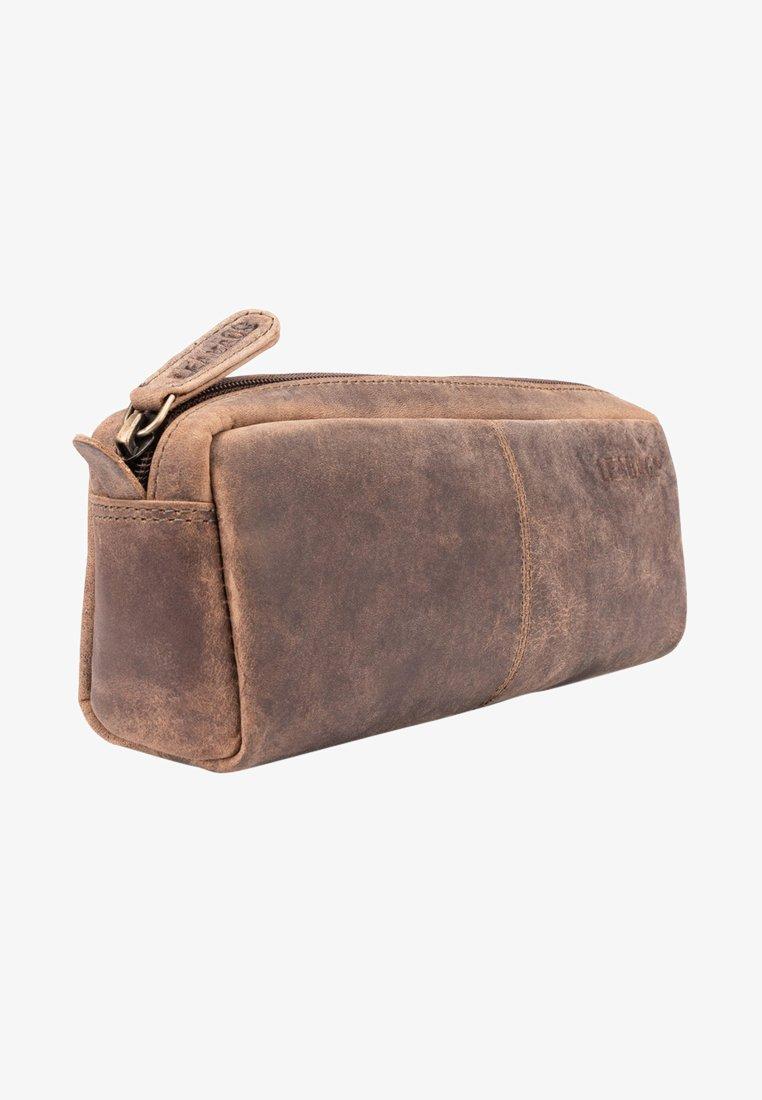 Leabags - WAYNE - Pencil case - mottled light brown