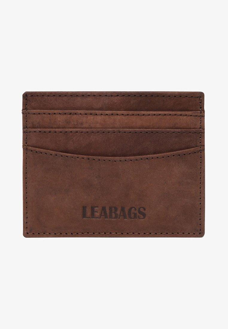 Leabags - KREDITKARTENETUI MILWAUKEE - Wallet - brown