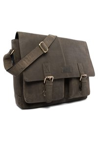 Leabags - CAMBRIDGE - Across body bag - olive - 3