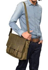 Leabags - CAMBRIDGE - Across body bag - olive - 0