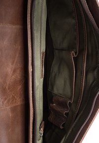 Leabags - CAMBRIDGE - Across body bag - mottled dark brown - 3