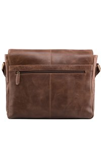 Leabags - CAMBRIDGE - Across body bag - mottled dark brown - 1
