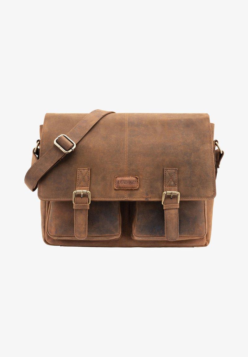 Leabags - CAMBRIDGE - Across body bag - mottled light brown