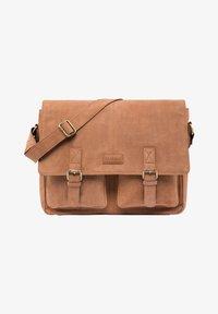 Leabags - CAMBRIDGE - Across body bag - brown - 0