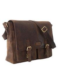 Leabags - CAMBRIDGE - Across body bag - mottled brown - 3