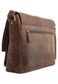 Leabags - CAMBRIDGE - Across body bag - mottled brown - 2