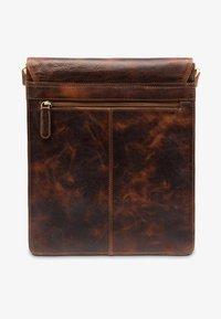 Leabags - LONDON - Across body bag - dark brown/light brown - 1