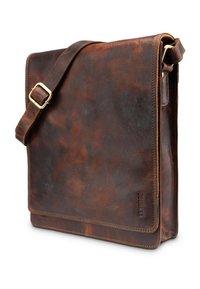 Leabags - LONDON - Across body bag - dark brown/light brown - 2