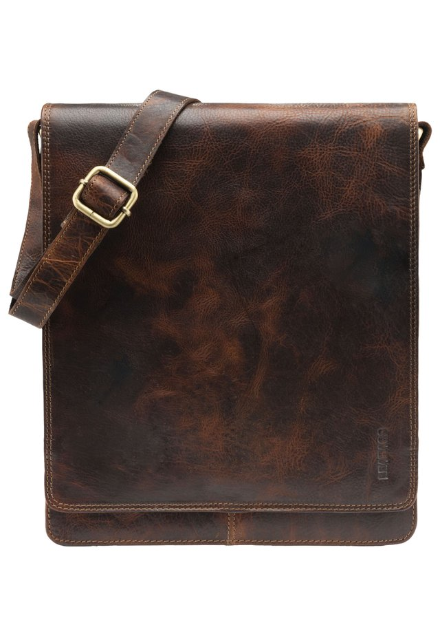 LONDON - Across body bag - dark brown/light brown