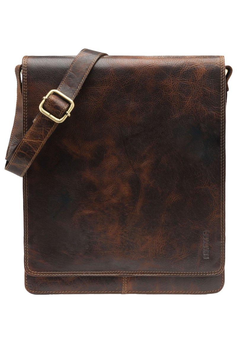 Leabags - LONDON - Across body bag - dark brown/light brown