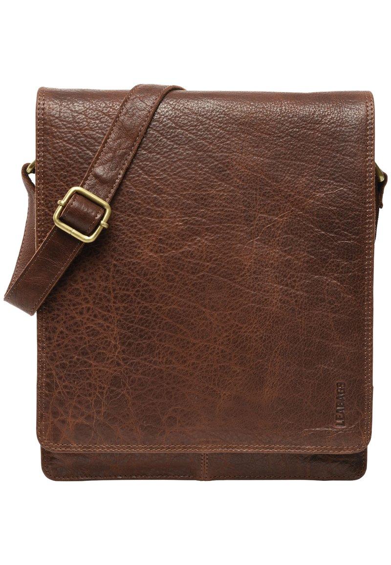 Leabags - LONDON - Across body bag - brown/brown