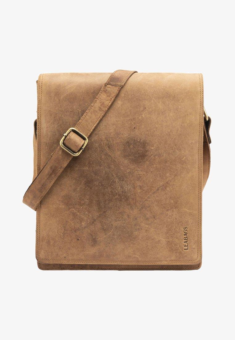 Leabags - LONDON - Across body bag - mottled light brown