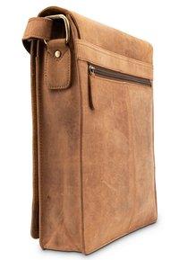 Leabags - LONDON - Across body bag - mottled light brown - 3