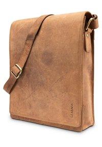 Leabags - LONDON - Across body bag - mottled light brown - 2