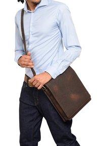 Leabags - LONDON - Across body bag - cooper brown - 0