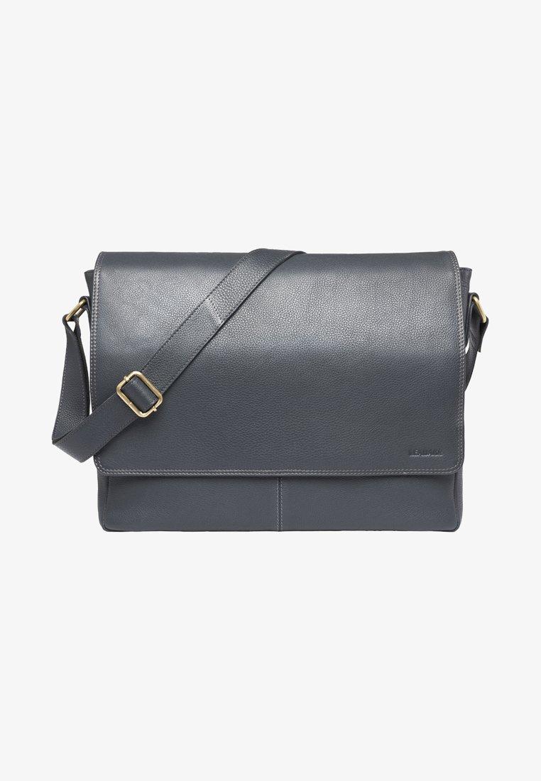 Leabags - OXFORD - Across body bag - steel blue