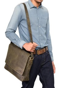 Leabags - OXFORD - Across body bag - olive - 0