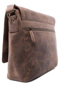 Leabags - OXFORD - Across body bag - mottled light brown - 1