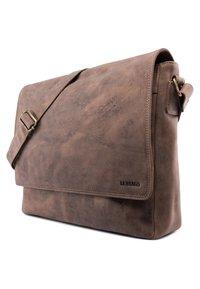 Leabags - OXFORD - Across body bag - mottled light brown - 2