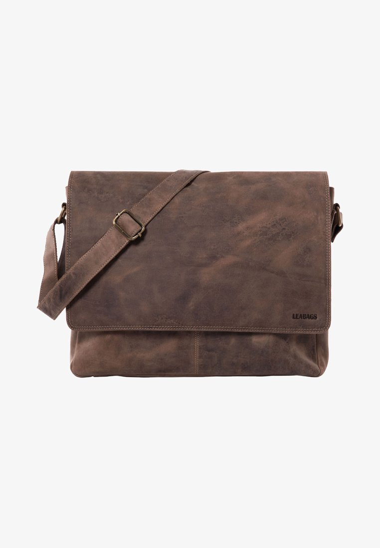Leabags - OXFORD - Across body bag - mottled light brown