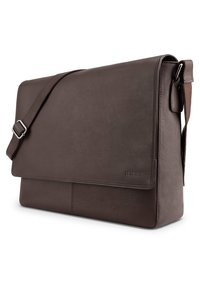Leabags - OXFORD - Across body bag - brown smooth - 2
