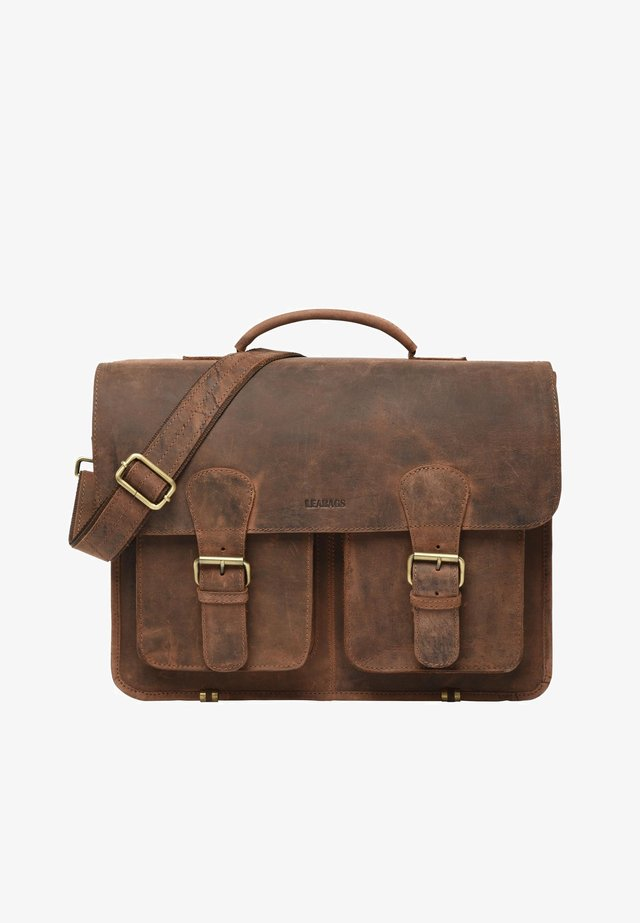 ATLANTA - Briefcase - mottled light brown
