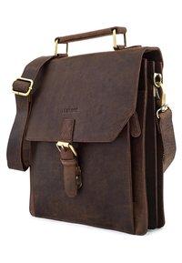 Leabags - EDINBURGH - Across body bag - brown - 3