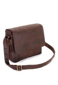 Leabags - KAMERATASCHE CINCINNATI - Across body bag - brown - 4