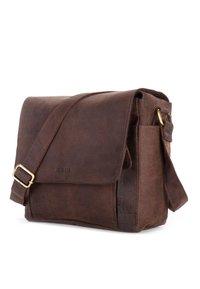 Leabags - KAMERATASCHE CINCINNATI - Across body bag - brown - 3