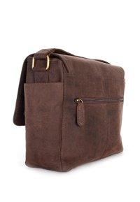 Leabags - KAMERATASCHE CINCINNATI - Across body bag - brown - 2