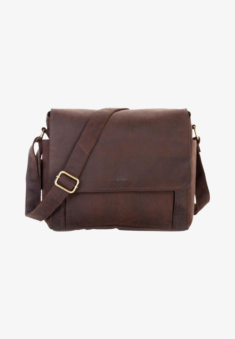 Leabags - KAMERATASCHE CINCINNATI - Across body bag - brown