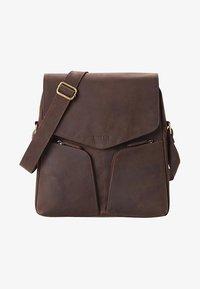 Leabags - HONG KONG - Across body bag - brown - 0