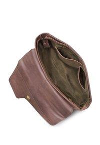 Leabags - LEABAGS UMHÄNGETASCHE GENEVA - Across body bag - muskat - 7