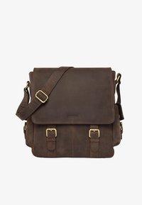 Leabags - PRESTON - Across body bag - mottled brown - 0