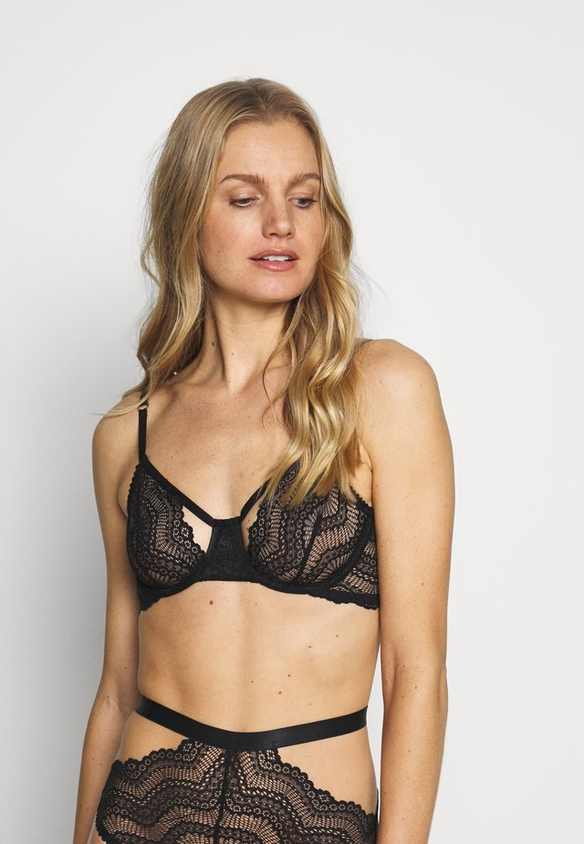 AGATHA UNDERWIRE BRA - Underwired bra - black