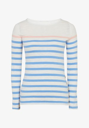 Long sleeved top - off-white, blue