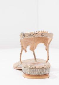 Lazamani - T-bar sandals - nude - 4