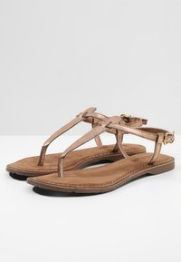 Lazamani - T-bar sandals - copper - 4